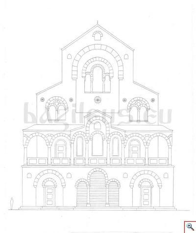 Обр. 3. Реконструкция на южната фасада на палата.