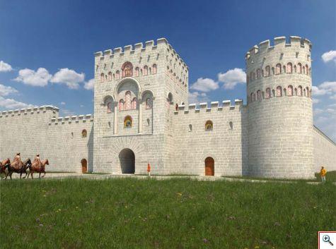 Южната порта на Дворцовата крепост в Преслав